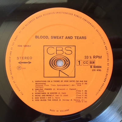 Blood, Sweat And Tears - Blood, Sweat And Tears