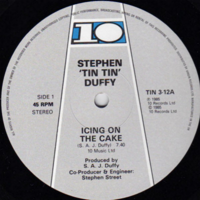 Stephen Tin Tin Duffy ‎– Icing On The Cake