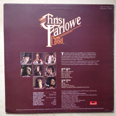 The Chris Farlowe Band - Live!
